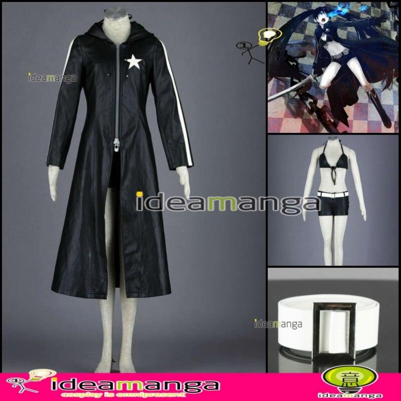Black Rock Shooter Costume Cosplay Dress Anime Manga NEW
