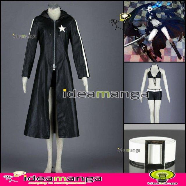 [ideamanga]Manga Amime V+ VOCALOID Hatsune Miku BLACK ROCK SHOOTER girl's Cosplay Costume Female halloween party dress Any Size