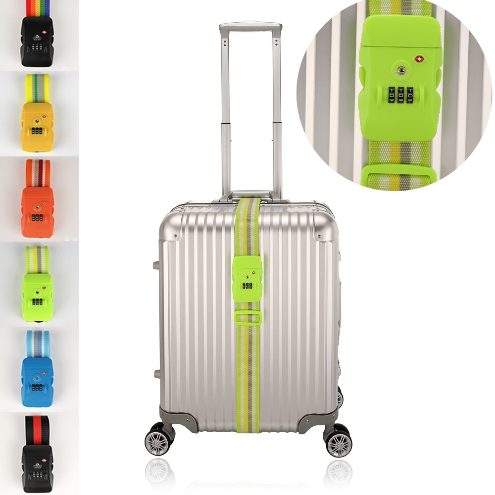 Adjustable Sigle Luggage Suitcase Strap With TSA 3-Digit Combination Lock Travel Airport Security Friendly Packing BletAdjustable Sigle Luggage Suitcase Strap With TSA 3-Digit Combination Lock Travel Airport Security Friendly Packing Blet