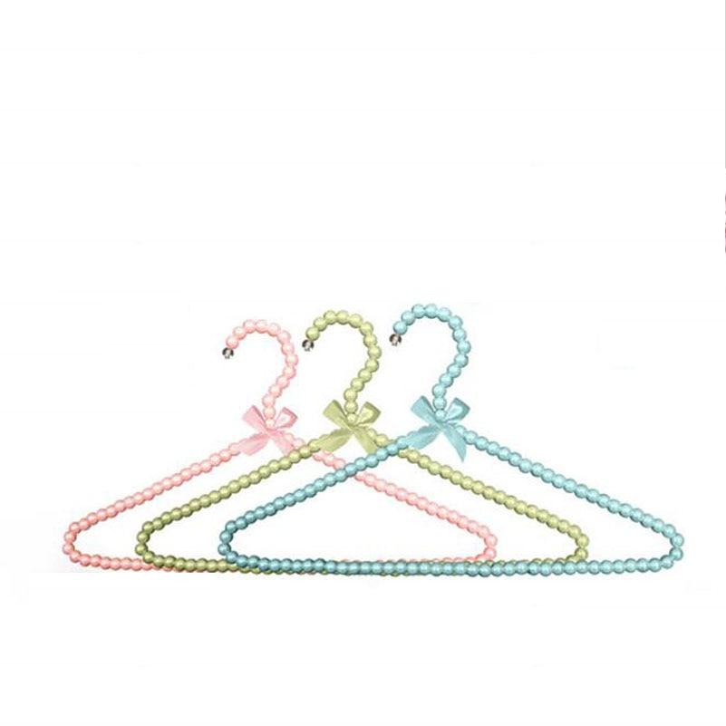 Sainwin 5pcs / lot Děti 30CM ramínka pro oblečení Děti Pearl Plastový věšák oblečení Rack Dětské plastové ramínka