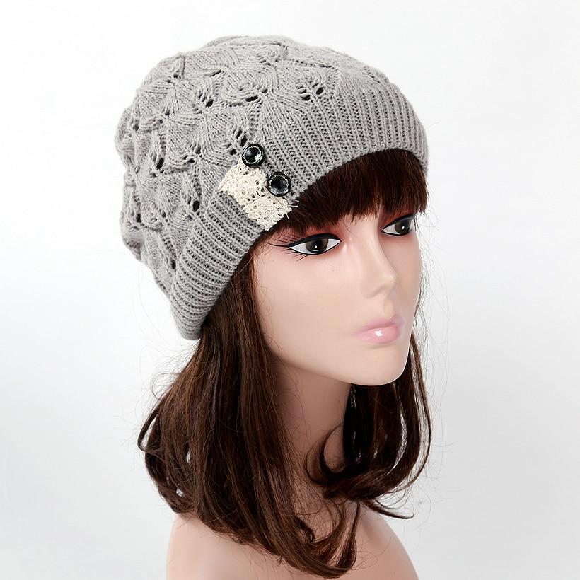 42b87fba663 Hot Sale New Fashion Winter Hats for Women Genuine Hat Handmade Knitted  Warm Hat Female High Elastic Caps Beanies Headgear