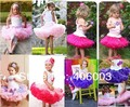 free shipping baby dance party tulle skirt girls lovely fluffy chiffon princess pettiskirt tutu skirt