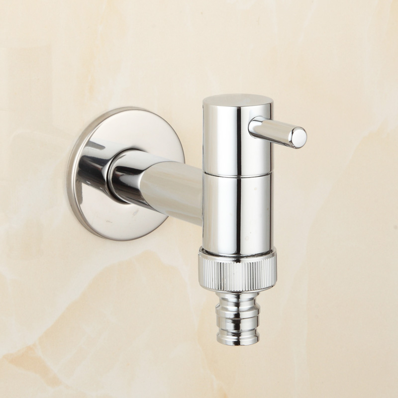 Brass Chrome Laundry Bathroom Washing Machine Faucet Wall Mount Sink Basin Water Faucet Tap