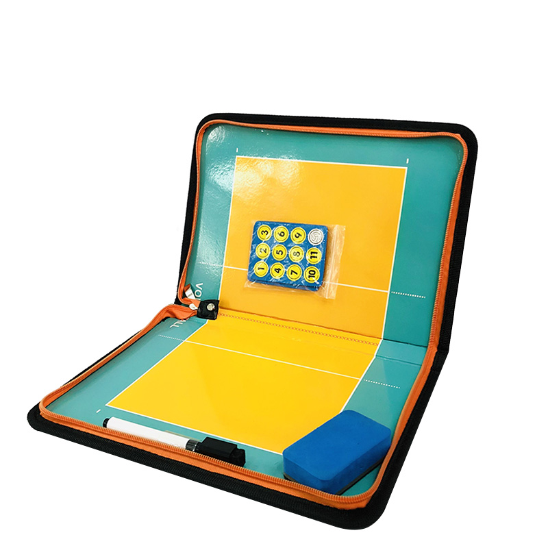 Zipper Magnetic Volleyball Board PU Tactical Portable Handba Ball Game Coach Voleibol Training Tactic Plate