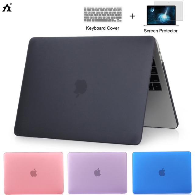 Laptop Case For Apple Macbook Air Pro Retina 11 12 13 15 with touch bar Cover For Macbook New Air 13 A1932 2018 + Keyboard Cover