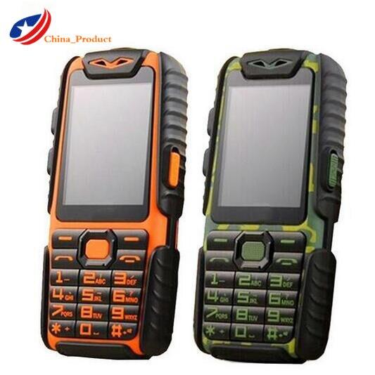 Gift 24 hours shipping Guophone A6 Mobile Phone Dual Sim 2 4 Flashlight 9800mAH Big Battery