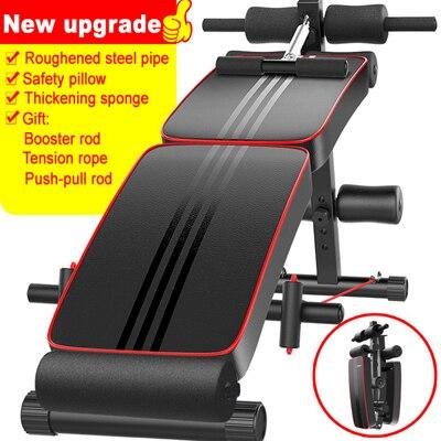 Universal Sentar Bancos Bordo Abdominal Equipamentos Exercitador abdominal Músculos Treinamento Dobra Máquinas de Fitness Dumbbell Casa