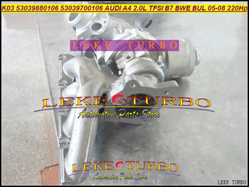 K03 106 53039880106 5303-988-0106 53039700106 06D145701G Turbo Turbocompressore Per AUDI A4 2.0L TFSI B7 2005- 2008 BWE BUL 220HP