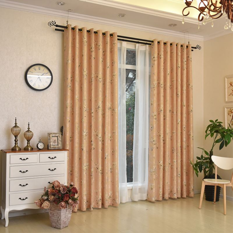 1Pc Dandelion Jacquard 1.35*2.5m Curtains Window Family Curtains For  Balcony Living Room Bed Room T30