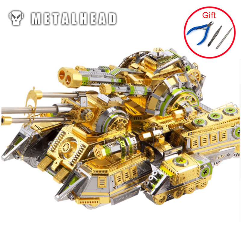 3D Metal Puzzle Model High-quality Skynet Spider Superheavy Tank Kits Laser Cut Assemble Jigsaw Educational Toys For Adult Kids
