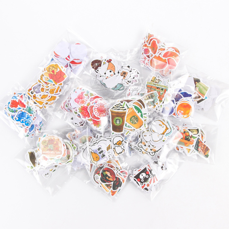 70Pcs/pack Cute Cartoon Handbook Stickers Diary Sticky Post It Sticker Students' Decoration Label Stationery & Gift Papelaria 1pc lot cute rabbit design memo pad office accessories memos sticky notes school stationery post it supplies tt 2766