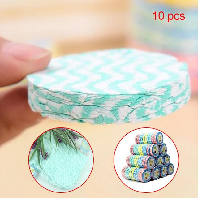 10pcs Outdoor Traveling Portable Non Disposable Compressed Towel Non-woven Eco Towel