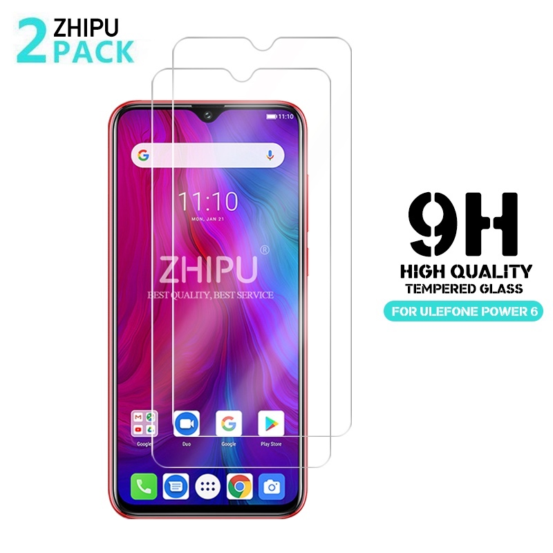 2 Pcs Tempered Glass For Ulefone Power 6 / 3L Glass Screen Protector 2.5D 9H Tempered Glass For Ulefone Power 6 Protective Film(China)