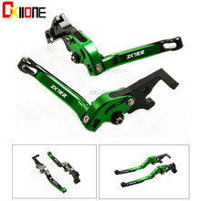 Up with logo Set For KAWASAKI ZX7RR 1989-2003 2001 2002 Motorcycle Folding Extendable CNC Moto Adjustable Clutch Brake Levers