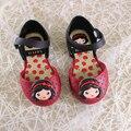 Princesa mini melissa sandalias nuevos zapatos de verano para niñas zapatos de la princesa de dibujos animados niñas sandalias de los niños sandalias respirables
