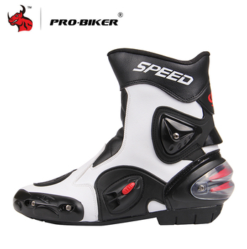PRO-BIKER Motorcycle Boots Men PU Leather Motocross Moto Motorboats Shoes Motorbike Racing Career Bicycle Speed - discount item  49% OFF Motorcycle Equipments