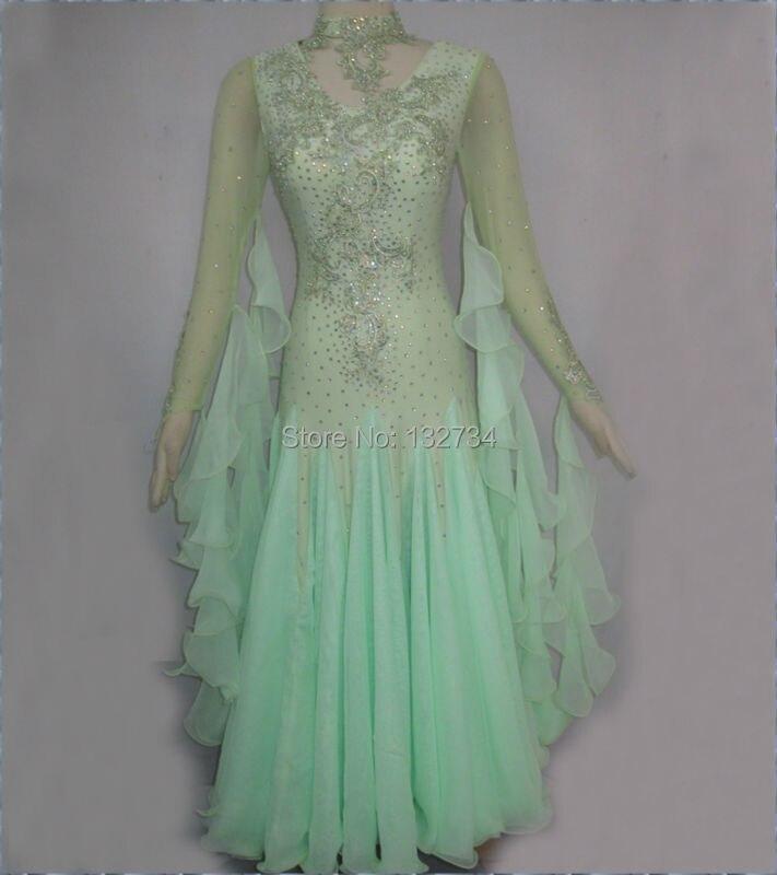 Modern Waltz Tango Ballroom Dance Dress, Smooth Ballroom Dress,Standard Ballroom Dress Girls B-0007