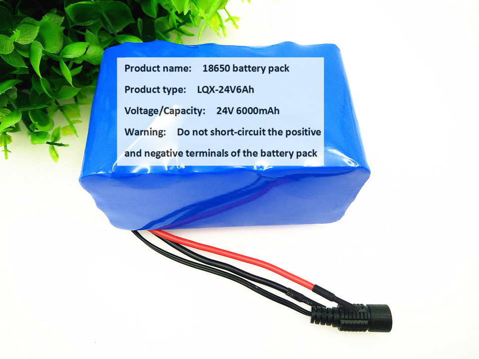 ФОТО 24V Battery Pack 25.2V 6Ah18650 Battery 6000mAh Rechargeable Battery For GPS Navigator/Camera/Golf Car/Electric Bike/LED/Light