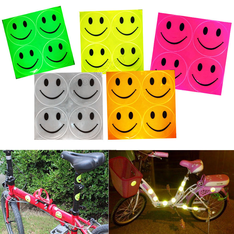 Prismatic Sheeting Reflective With 4 Smiley Face For Bike