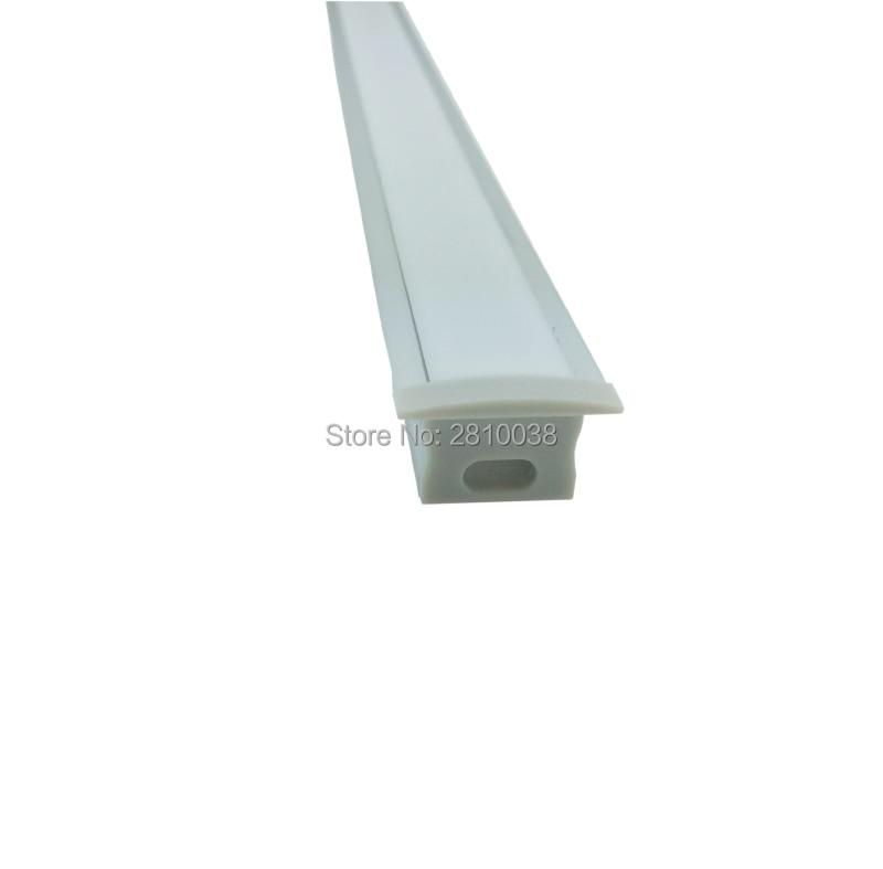 50 X 1M komplekti / T sērijas stils Anodēts sudraba alumīnija profils LED sloksnei un AL6063 vadītajam profilam 1m padziļinātām sienas vai grīdas gaismām