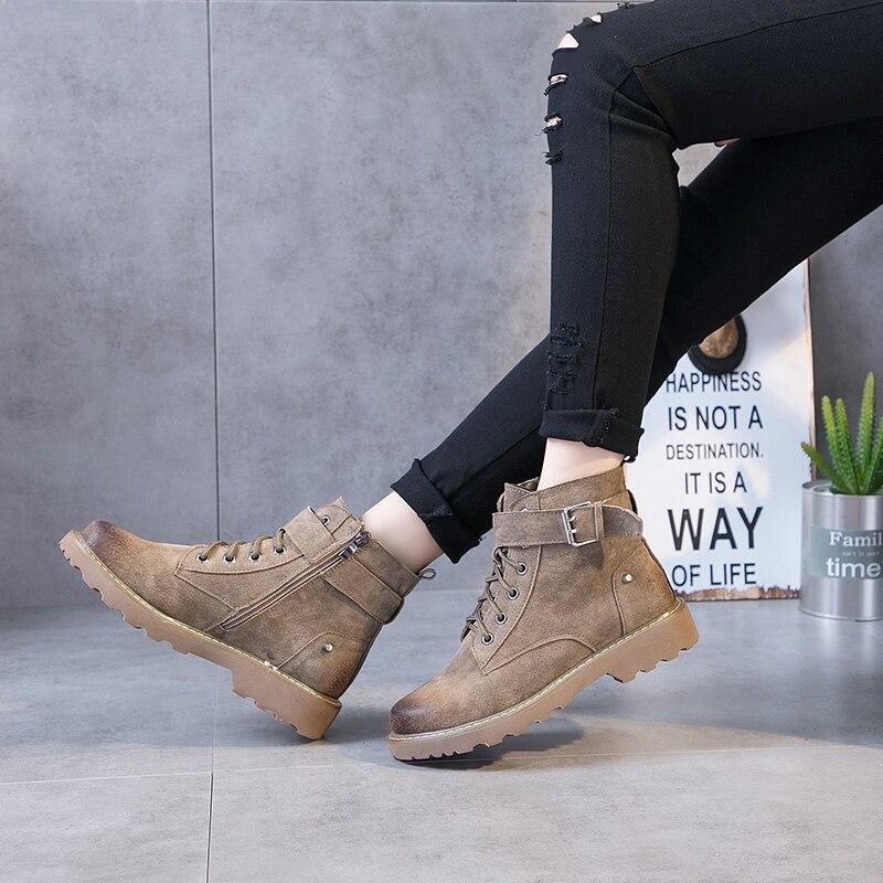 2018 Point Chaussures Femmes La Bottes À Plat K5 Mode D'hiver Vend Confortable Dames Britannique De Vintage Martin Nouveau SEaxqAwdd