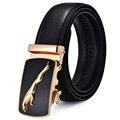 2016 New Design Mens Belt Jaguar Fashion Real Leather Belt Gold Automatic Buckle Belts Designer Belts For Men