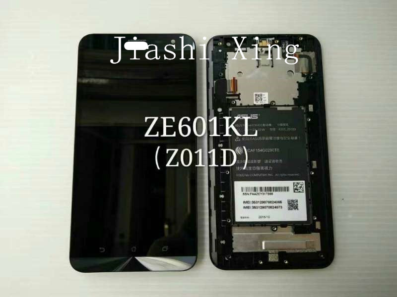 ФОТО ZE601KL LCD Display+Touch Screen Panel With Frame Digitizer Accessories For ASUS Zenfone 2 Laser ZE601KL Z011D 6.0