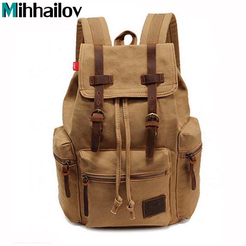 10 Colors New Fashion Arcuate Shouider Strap Zipper Solid Casual Bag Male Backpack Canvas Bag Designer Backpacks for Men KY-121