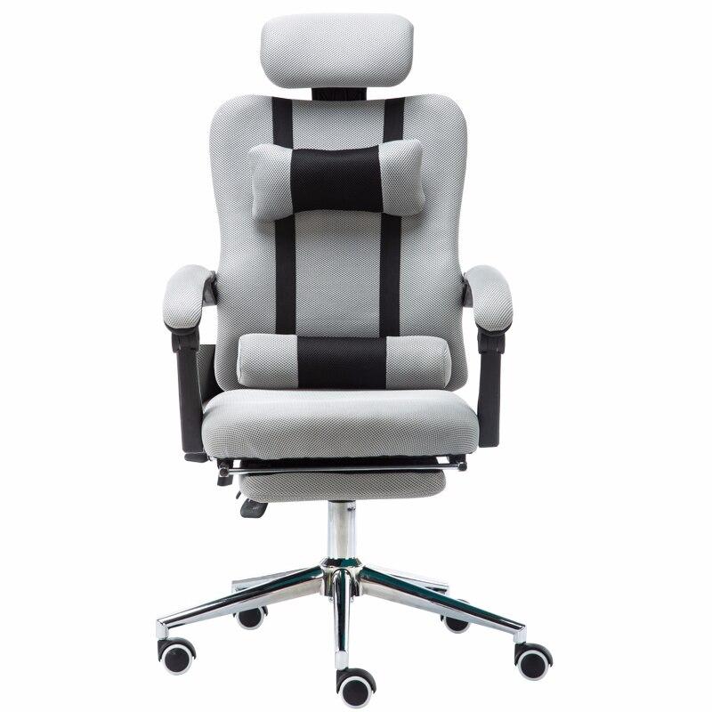 Высокое качество сетка компьютерный игровой стул ажурный офисный стул лежащий и подъемный персонал кресло с подставкой для ног