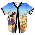 Tamanho EUA Jerseys Mais Novo Estilo Quente Na Moda Das Mulheres Dos Homens de Beisebol Unissex Roupas de Impressão 3D Top Camisa Dos Desenhos Animados do Anime Goku