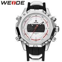 WEIDE 6406 Homens Genuínos Relógios de Quartzo Top Marca de Luxo Relógio À Prova D' Água Esporte Relógio De Pulso Analógico Digital de Alarme Relógio Automático