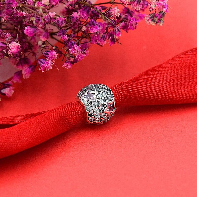 vroče 925 srebro evropski kubični cirkonij Charm kroglice Fit - Modni nakit - Fotografija 4