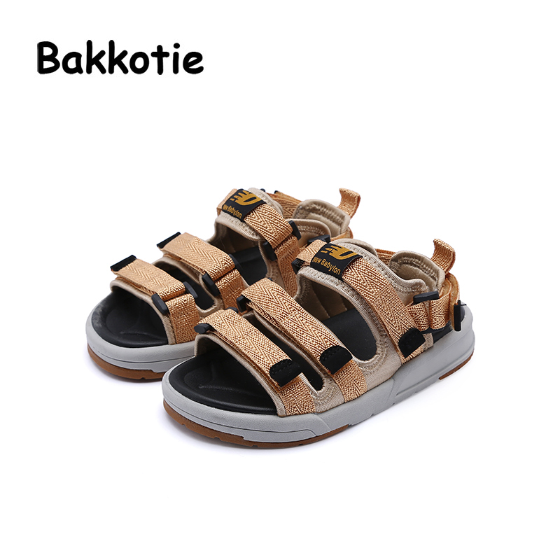 Bakkotie 2018 Summer New Baby Boy Fashion Beach Sandals Children Sport Pu Leather Flats Toddler Brand Black Soft Casual Shoes