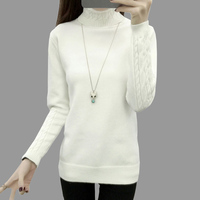 2016 New Winter Women Pullover Sweaters Long Sleeve Turtleneck Pullovers Female Slim Thick Knitted Sweater Camisola
