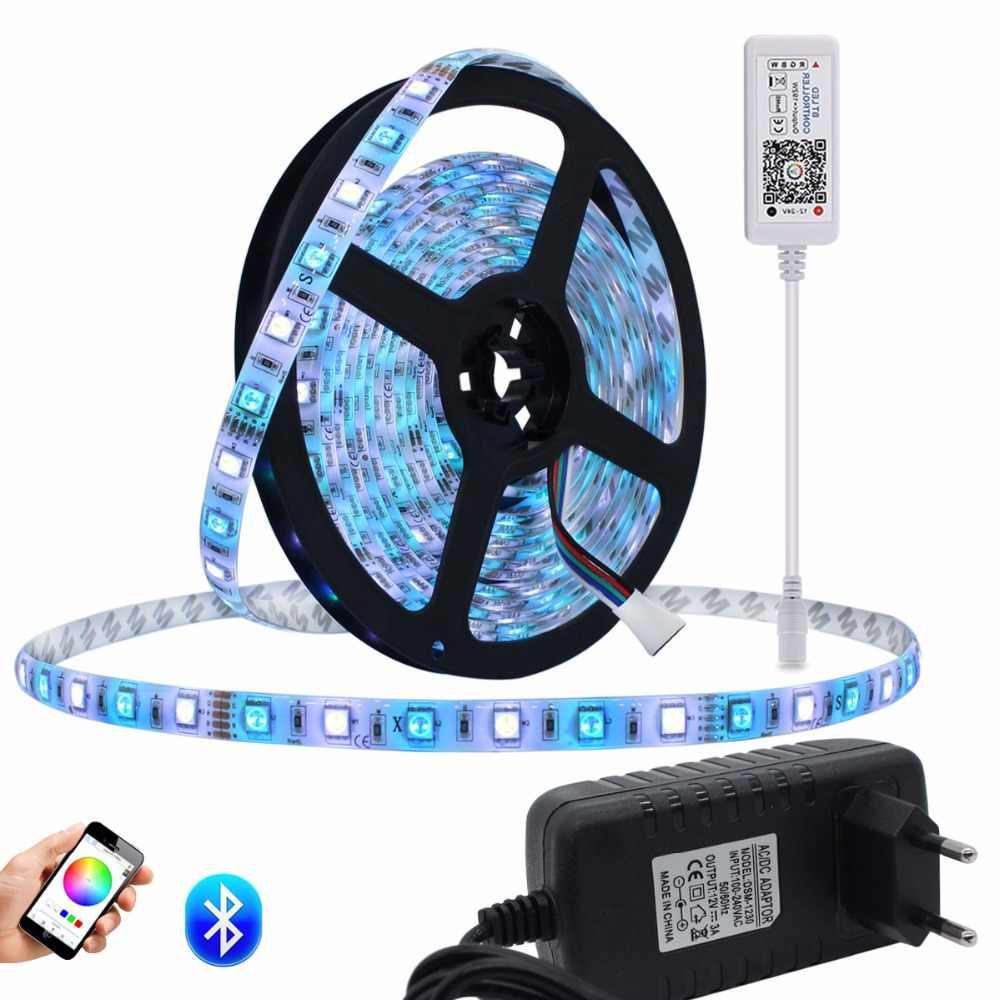 Kit de bande LED SMD5050 5 m/lot 300 LED s lumière LED Flexible RGB RGBW bande de LED avec Bluetooth 4.0 contrôleur alimentation
