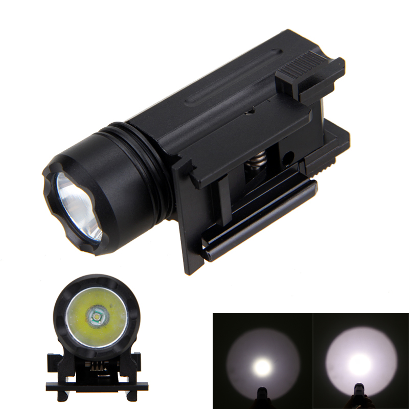 Hunting Torch Light 3000LM XPE Q5 LED Light Weaver Picatinny Mount Gun 3 Modes Tactical  ...