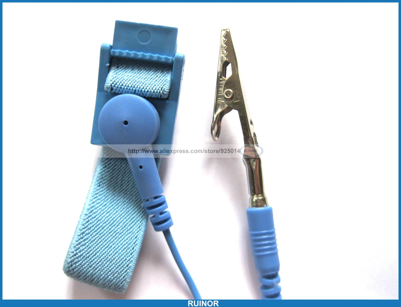 ФОТО 20 Pcs Antistat Wrist Strap with Alligator Clip Cord