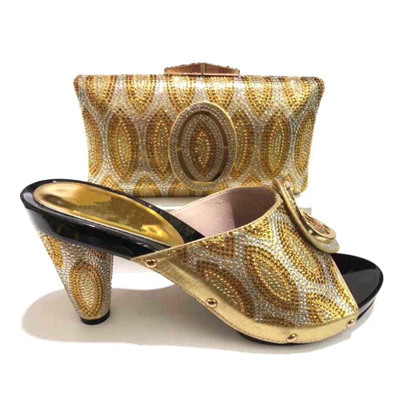 228-3 Italian Shoes With Matching Bags African Women Italian Shoes And Bag Set Nigerian Women Wedding Shoes And Bag Sets