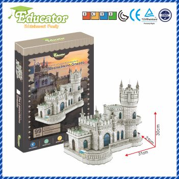 New Model 3D Puzzle Ukraine Buliding Model The Lastochkino Gnezdo In 3D Puzzle Model