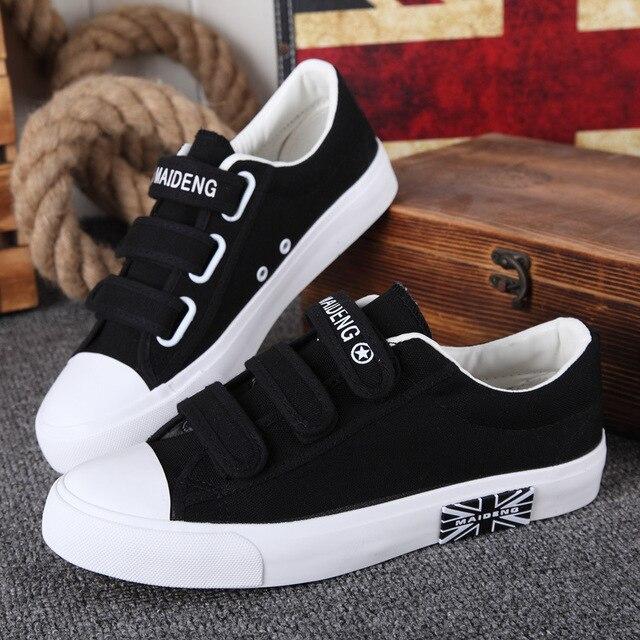 25811066a9 Sapatas das mulheres das sapatilhas 2018 novos chegada da primavera sapatos  de lona moda hook