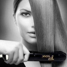 YC338 Hair Straightener Curler Hair Flat Iron Negative Ion Hair Straightening Curling Corrugation Iron for Dry Wet Hair Black