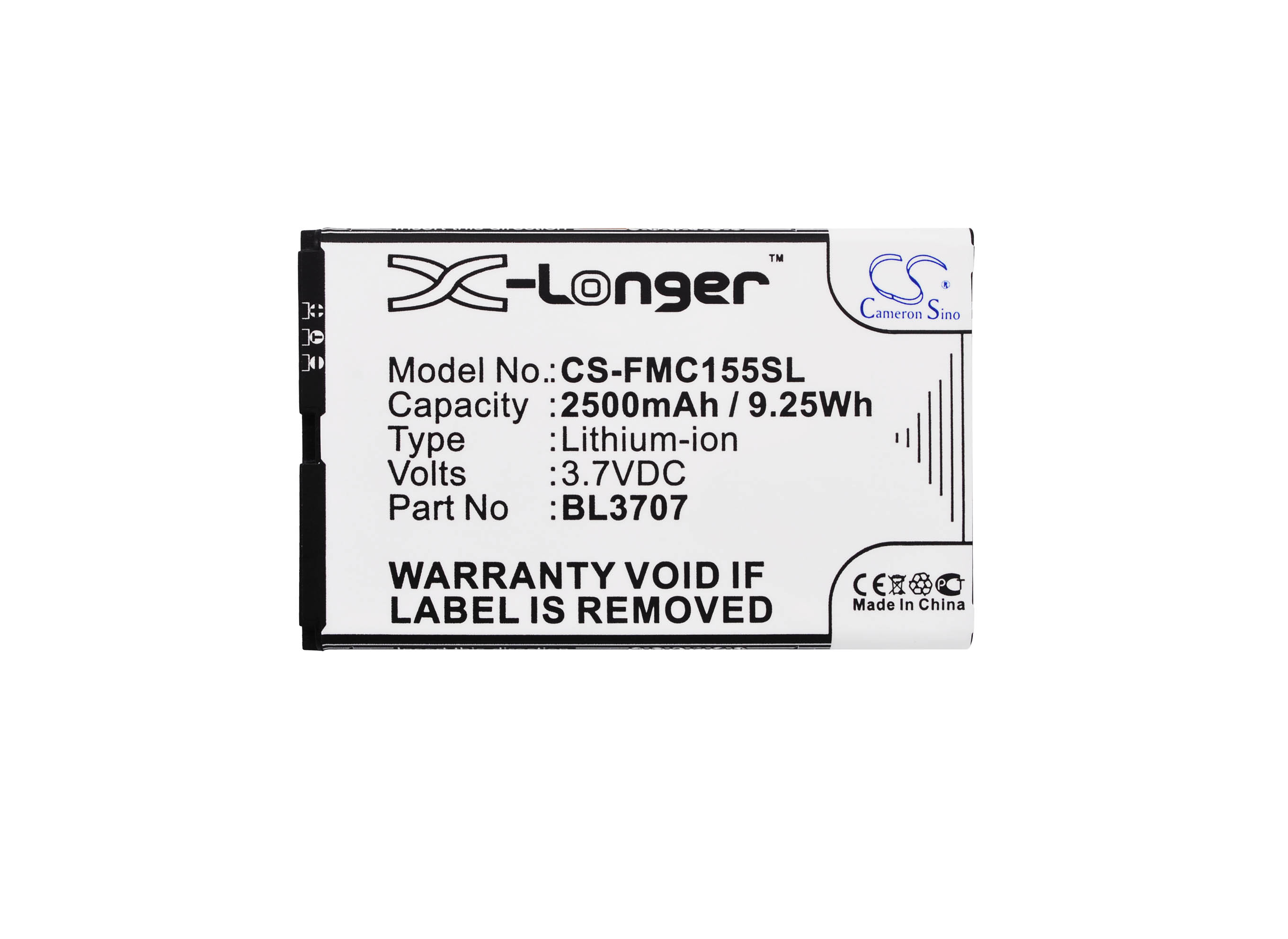 Cameron Sino 2500mAh Battery BL3707 for Fly Era Energy 2, IQ4401, MC155