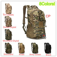 8colors Multicam Military Tactical Backpack Unisex Outdoor Sports Camping Hiking Mountaineering Backpack Waterproof Travel Bag стоимость