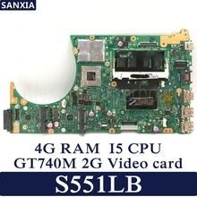 Kefu S551LB материнская плата для ноутбука ASUS S551LB S551LN S551LD S551L Тесты оригинальная материнская плата 4G Оперативная память I5-4200U GT740M-2G