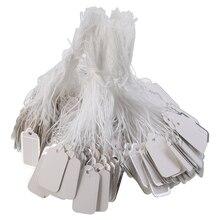 25x13 мм 500 шт бумажные этикетки Пустые бирки ценники для DIY ювелирных изделий одежда дисплей Пустой ценник