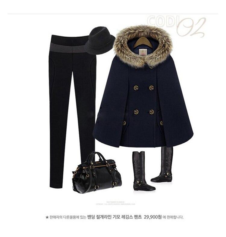 Осенне-зимний двубортный плащ-накидка, шерстяное пальто для женщин, красное твидовое пончо с меховым капюшоном, Толстая теплая Свободная верхняя одежда с рукавами «летучая мышь»