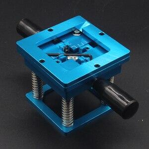 Image 3 - Mavi BGA reballing kiti 90*90mm BGA reballing istasyonu el sapı ile hediye 10/adet BGA evrensel şablon