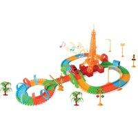 Dzieci Utwór Kolejowym Samochód Zabawka SAMODZIELNEGO Montażu Elektroniki Samochodu Roller Coaster Kolejka Zestaw Tor Wyścigowy Zabawki Pociągu Elektrycznego Samochodu