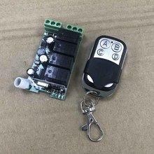 433MHz Universal  Wireless Remote Control Switch AC 85V ~ 250V 110V 220V 4CH Relay Receiver + RF 433 Mhz Remote Controls 315 433mhz ac85v 250v rf 4ch 1000m wide voltage multi function fr wireless remote control switch system switch