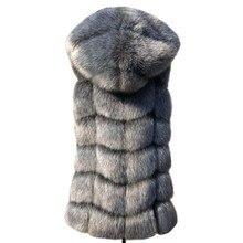 ZADORIN Новая мода без рукавов искусственный мех пальто с капюшоном зимние женские искусственный мех жилет Pelliccia размера плюс искусственный мех жилет куртка bontjas